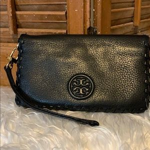 Black leather Tory Burch Wallet gently used.